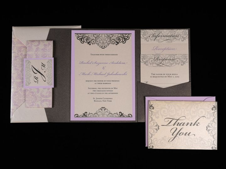 Tmx 1482451255316 Wvw6748 Hamburg, NY wedding invitation