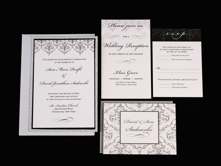 Tmx 1482451295479 Wvw6766 Hamburg, NY wedding invitation