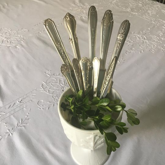Antique silverware