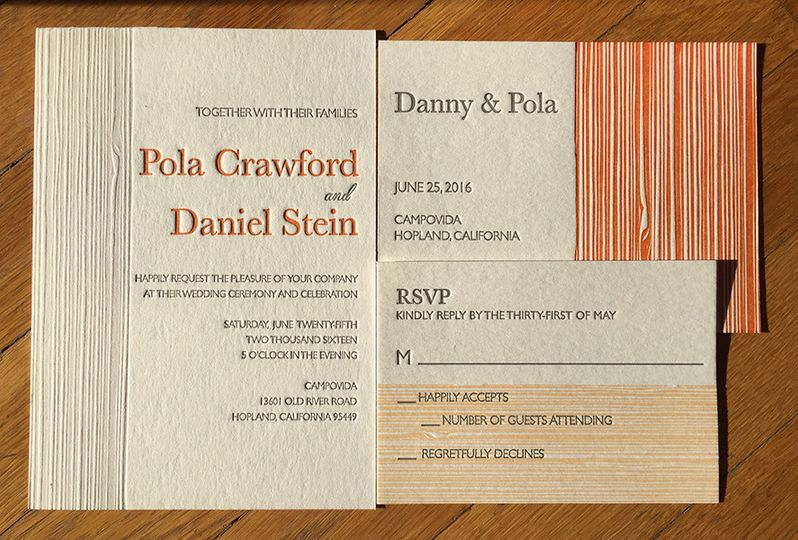 Invitation for the wedding