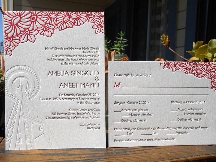 Tmx 1444874114165 Ameliaaneetset2 Portland, OR wedding invitation