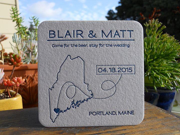 Tmx 1444874129390 Blairmattcoaster Portland, OR wedding invitation