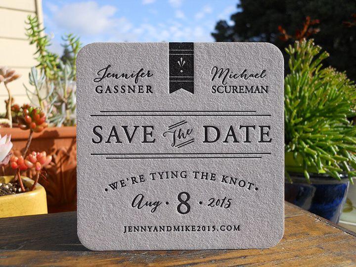 Tmx 1444874455751 Jennifermichaelcoaster Portland, OR wedding invitation