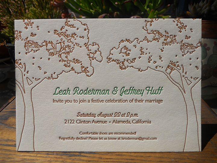 Tmx 1444874805201 Leahjeffreyoaktreeinvite Portland, OR wedding invitation