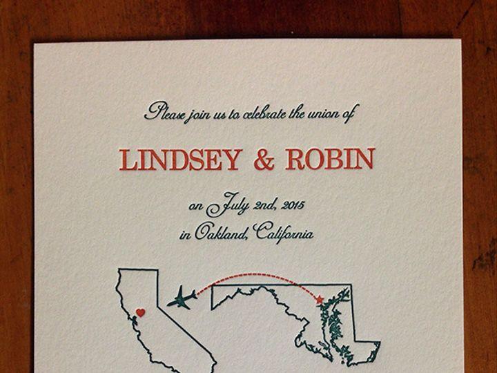 Tmx 1444874812443 Lindseyrobininvite Portland, OR wedding invitation