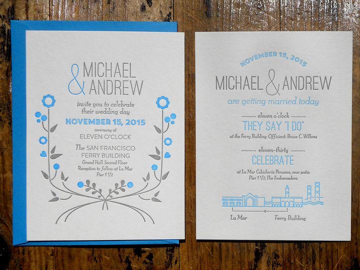 Tmx 1444874857040 Michaelandrewsetlaurenbarr Portland, OR wedding invitation