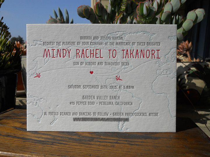 Tmx 1444874871931 Mindytakainvite2 Portland, OR wedding invitation