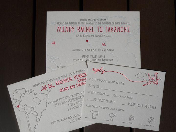 Tmx 1445453801742 Mindytakainviteset Portland, OR wedding invitation
