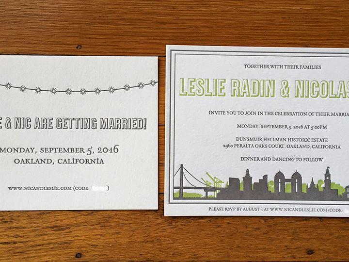 Tmx 1445737342857 Leslienicinviteset Portland, OR wedding invitation