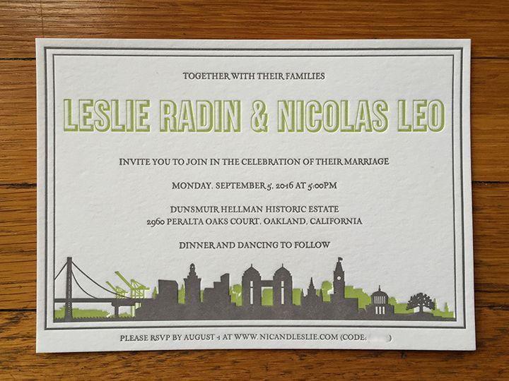 Tmx 1445831422698 Leslienicinvite Portland, OR wedding invitation