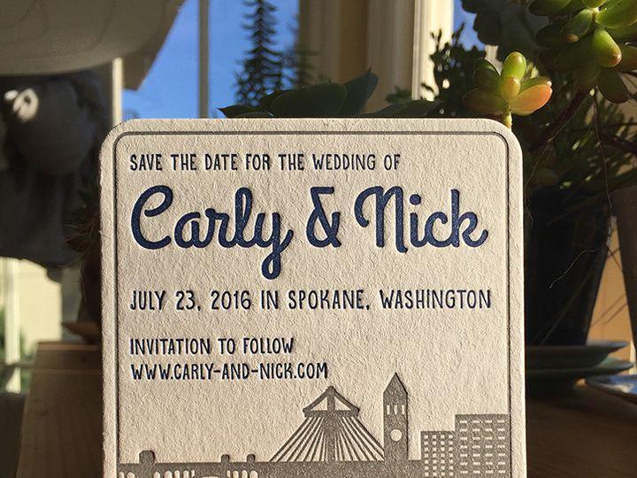 Tmx 1447782235385 Carlynickcoasters Portland, OR wedding invitation