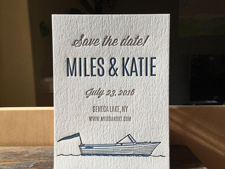 Tmx 1450379193015 Mileskatiesave2 Portland, OR wedding invitation