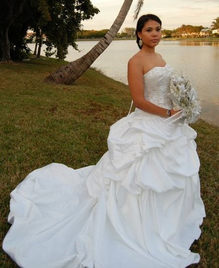 Our Gia wedding gown.