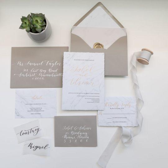 Grey invitation cards