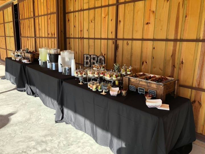 A catering table