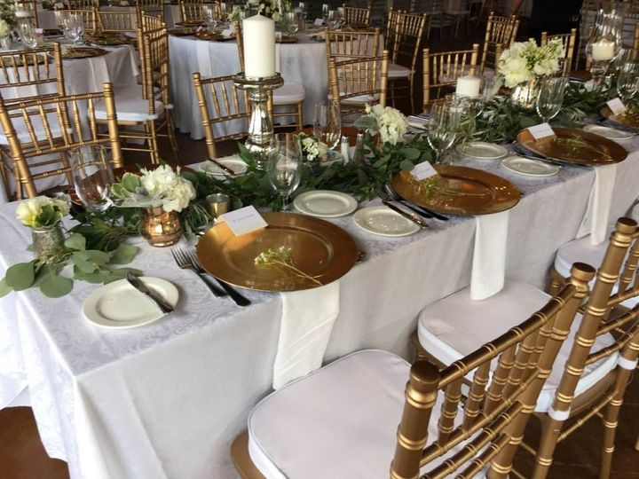 Table setup with decors