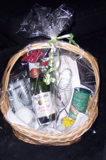 COMPLIMENTARY Gift Basket for the bride and groom!