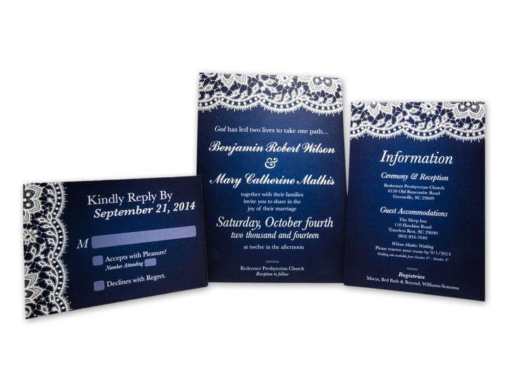 Tmx 1414442007399 Mary Ben Etsy Gaithersburg wedding invitation