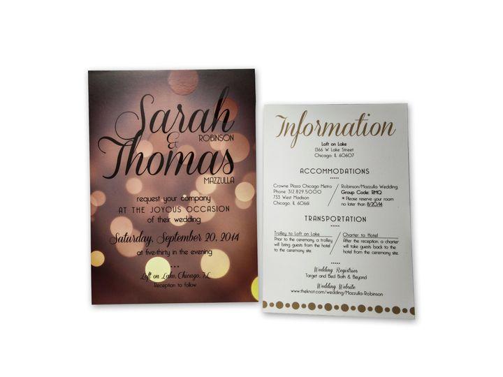 Tmx 1414442172050 Sarah Tom Suite2 Gaithersburg wedding invitation