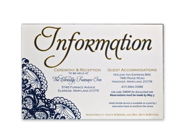 Tmx 1414463652108 Wifey Karl Infocardf Gaithersburg wedding invitation