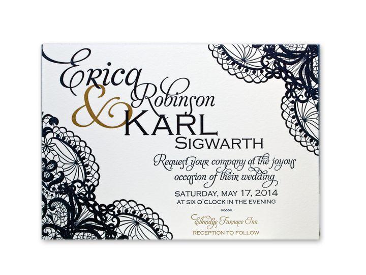 Tmx 1414463670764 Wifey Karl Invitef Gaithersburg wedding invitation