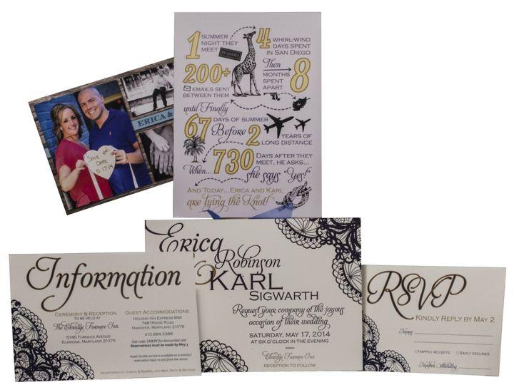 Tmx 1414463808934 Wifey Karl Fullset Gaithersburg wedding invitation