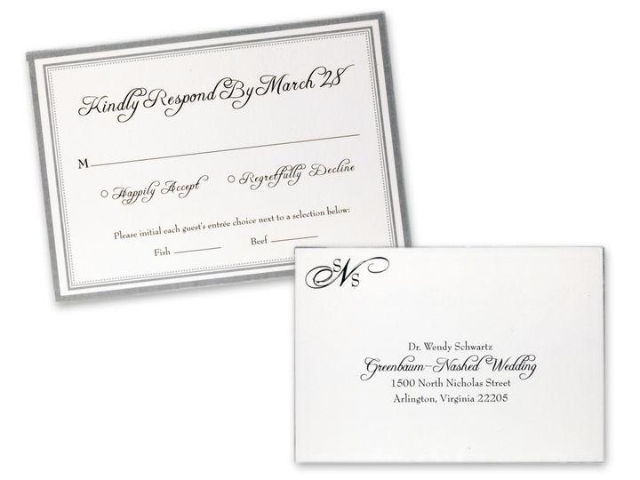 Tmx 1414463915176 Rsvp Combo Gaithersburg wedding invitation