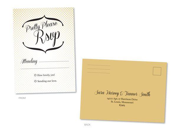 Tmx 1414464052365 Polakdot Rsvp Frontbackf Fb Gaithersburg wedding invitation