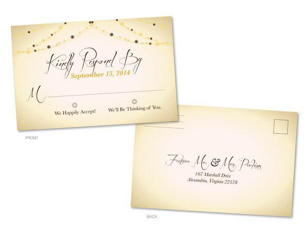 Tmx 1414464142101 Lights Rsvp Frontbackf Fb Gaithersburg wedding invitation