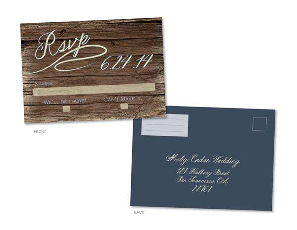 Tmx 1414464179135 Woodscript Rsvp Frontbackf Fb Gaithersburg wedding invitation