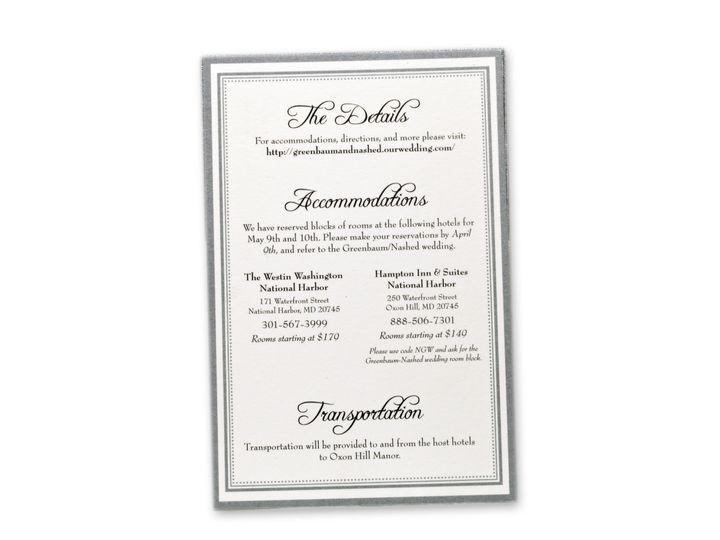 Tmx 1414464450502 Sarah Nash Infocardf Gaithersburg wedding invitation