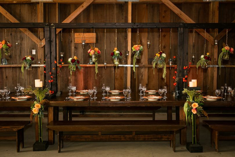 Rustic reception area