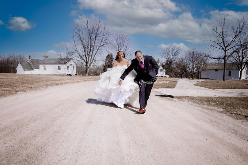Bride at secret location
