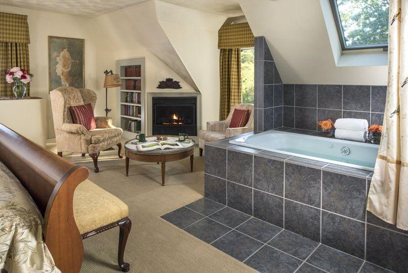 Romantic bridal suite