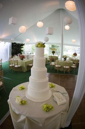 Photographed by Stephen Green Photography.  Wedding designed by Tying the Knot.  Cake created by...