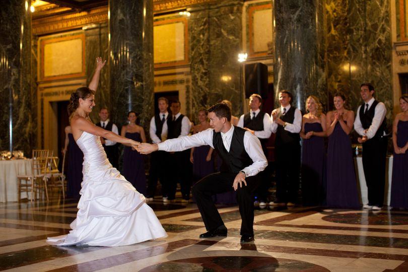 first dance at the carnegie music hall foyer weddi