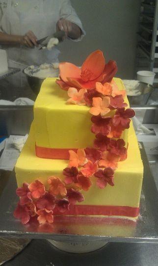 Colorful Flowers Wedding Cake