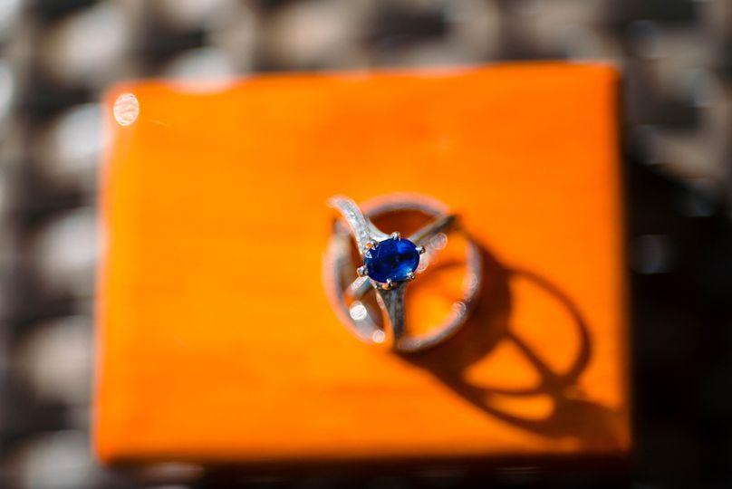 Detail shot of rings
