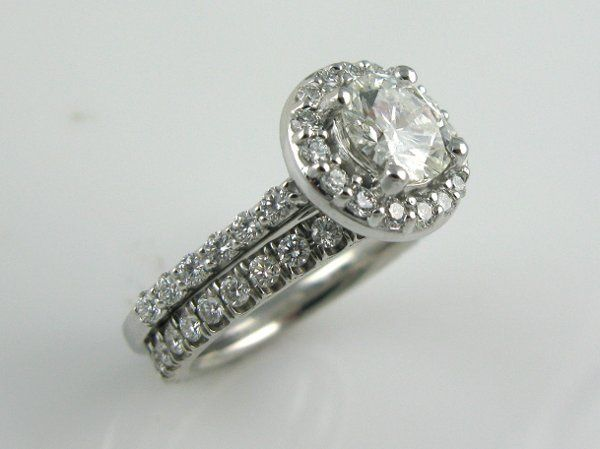"""All New! Just delivered this GIA Certified 1ct center diamond in .50 ct """"halo"""" setting which makes..."""