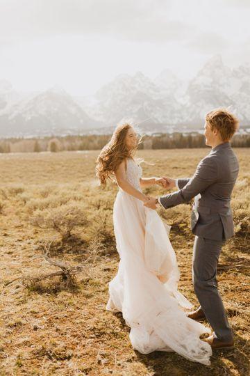 Teton bridal session