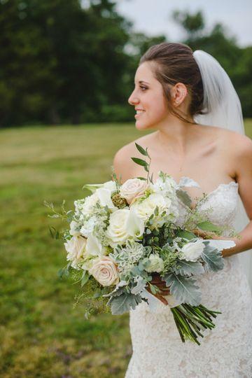 A romantic bridal bouquet
