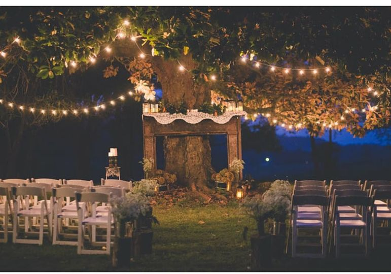 The outdoor wedding venue