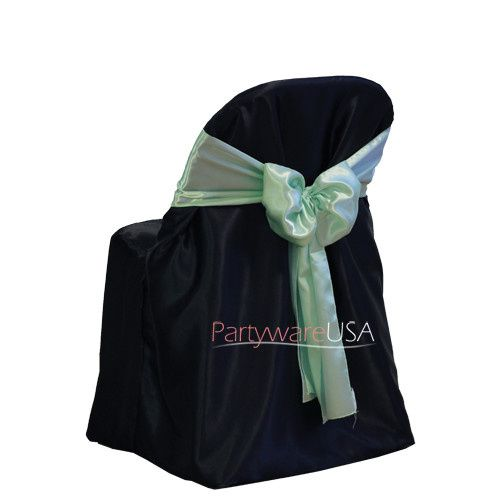 satin folding chair covers