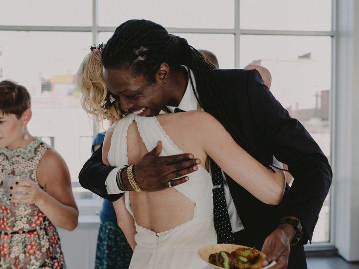 Tmx Guesthuggingbrideholdingfoodchellisemichael 51 1028433 Brooklyn, NY wedding catering
