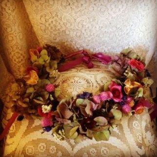 Dried Bridal Flower Crown