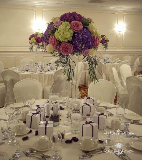 Tall Purple Hydrangea