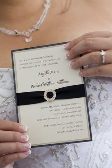 """Crystal buckle.  Beautiful papers.  This invite is a """"must have""""!"""