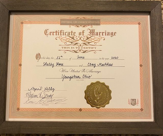 Keepsake Marriage Certificate