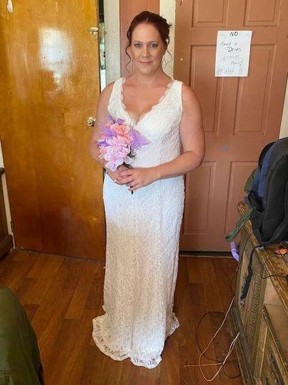 The beautiful bride, Tina.