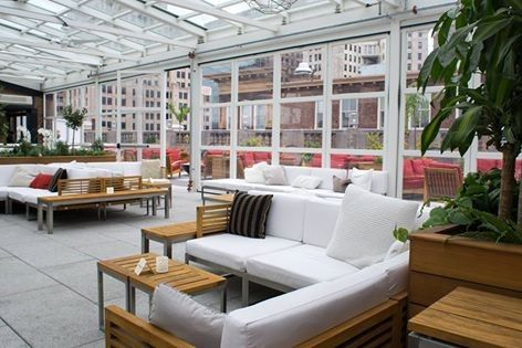 rooftop white lounges